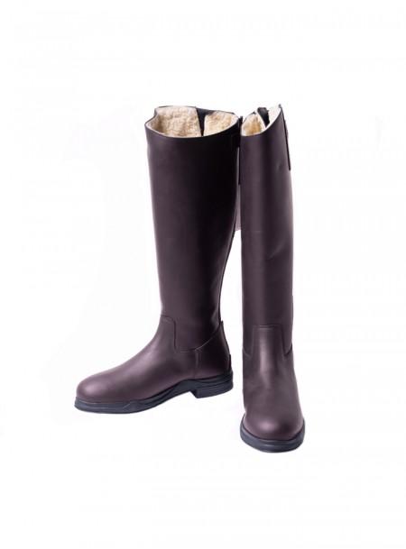Утеплені чоботи для вершників QHP зі 100% шкіри Фото