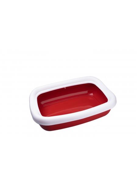 Пластиковий лоток для домашніх тварин з рамкою BETA в червоному кольорі Фото