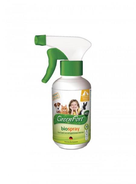 Біоспрей GreenFort з діючою речовиною диметикон та ефірними маслами в пляшках об'ємом 200 мл. Фото