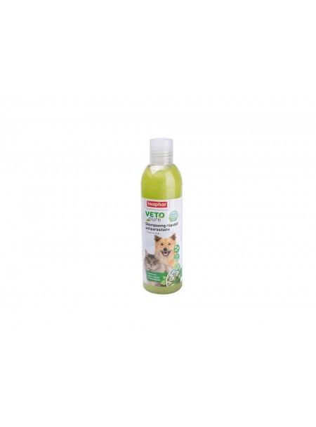 Натуральный БИО шампунь против блох для домашних животных в бутылке объемом 250 мл. Фото