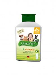 Біошампунь від ТМ GreenFort з діючою речовиною диметикон, насичений ефірними маслами в пляшках об'ємом 380 мл. Фото