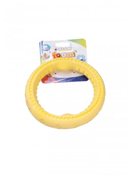 Жовте кільце для гри з собакою CROCI FOAM 17,5 см Фото