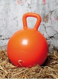 Помаранчевий гумовий м'яч для коней з ПВХ Harry's Horse діаметром 25 см Фото