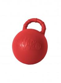 Червоний гумовий м'яч для гри з конем Horze окружністю 81 см Фото
