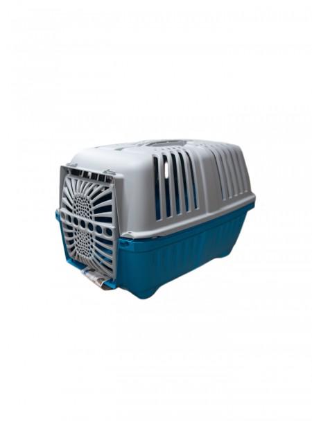 Зручна переноска для собак та котів PRATIKO 1 plast. BLUE до 12 кг Фото