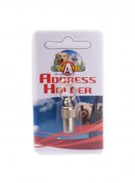 Металевий брелок на нашийник для домашніх тварин з інформаційною капсулою Фото