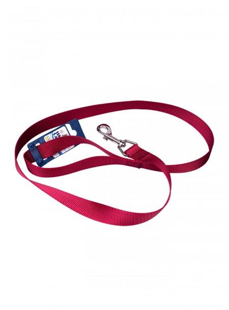 Нейлоновий повідець для собак CROCI довжиною 120 см. бордового кольору Фото