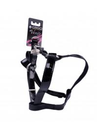 Шлейка для собак LEATHERETTE CROCI, черный лак длиной 50-75 см Фото