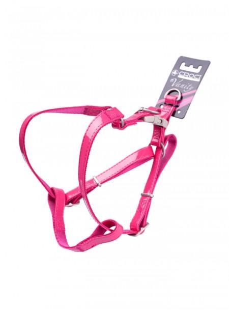 Шлея для собак з м'якого кожзаму LEATHERETTE в рожевому кольорі довжиною 36-60 см. від бренду CROCI Фото