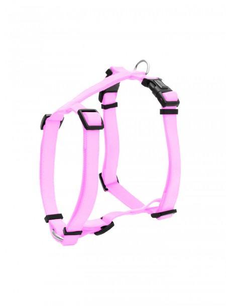 Рожева шлея для прогулянки з домашніми тваринами з кожзаму GLOSSY H 1,5 м. Фото