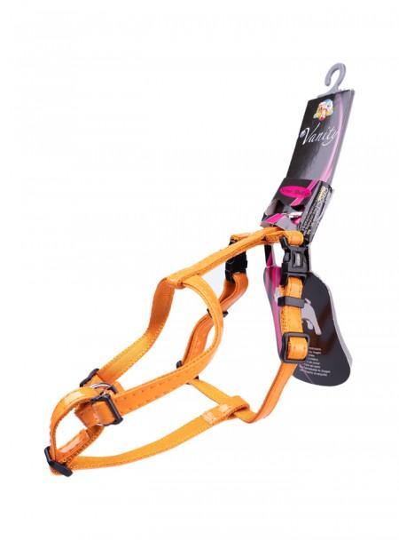 Помаранчева шлея для прогулянок з домашніми улюбленцями GLOSSY H 1 м. Фото