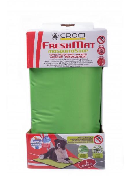 Охолоджуючий лежак – килимок для собак, котів та мініпігів з протикомариним просоченням CROCI 90*50 см. Фото