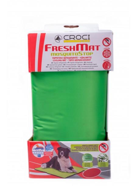 Охолоджуючий килимок для домашніх тварин зі спеціальним антикомариним просоченням від компанії CROCI, розмір 65*50 см. Фото