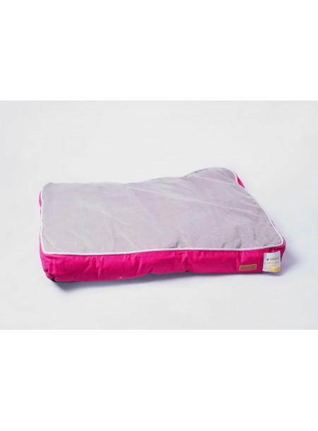 Зручна подушка для домашніх улюбленців COZY FUXIA 75*52*10 см. в рожево –сірому забарвленні Фото