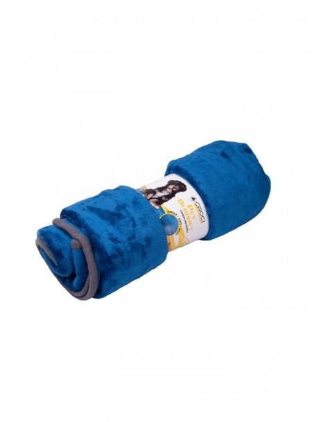 Флісова підстилка для собак та котів Caress синього кольору від ТМ Croci Фото