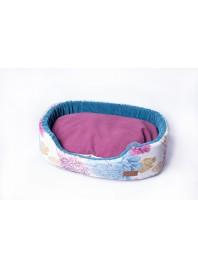 М'який лежак – підстилка для собак, котів та мініпігів COZY Flower 58*40*15 см. Фото