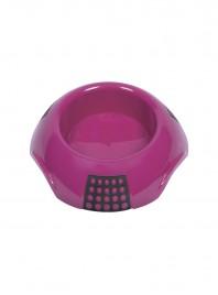 Розовая пластиковая миска для домашних любимцев LUNA XL на 2 л. Фото