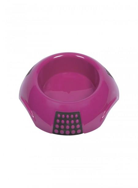 Рожева пластикова миска для домашніх улюбленців LUNA XL на 2 л. Фото
