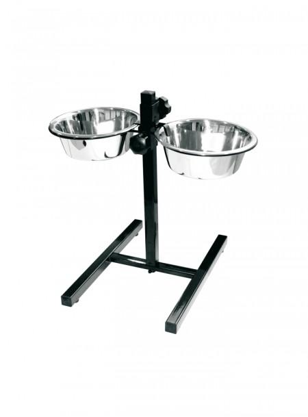 Залізна миска на підставці для собак, котів або декоративних поросят об'ємом 1,5 л. Фото