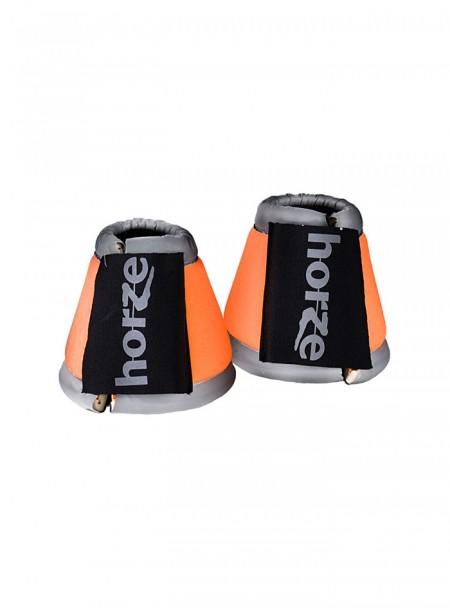 Помаранчеві світловідбиваючі кобури для скакуна з 100% неопрену Horze Фото