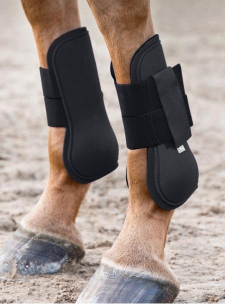 Якісні ногавки «Tendon» Horze з пластику та неопрену в розмірі Cob Фото