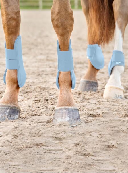 Комфортні неопренові ногавки для ніг скакуна Fetlock pony від компанії Horze Фото