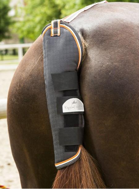 Повнорозмірний бандаж на хвіст коня EQUITHEME з синтетичної вовни та дихаючого поліестеру Фото