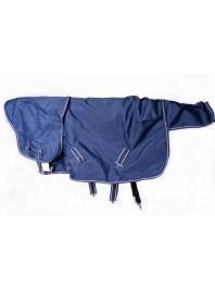 Зимова попона з шлеєю для коня з теплого флісову та зі змінним капором Minihorse в розмірі від 85 до 115 см Фото