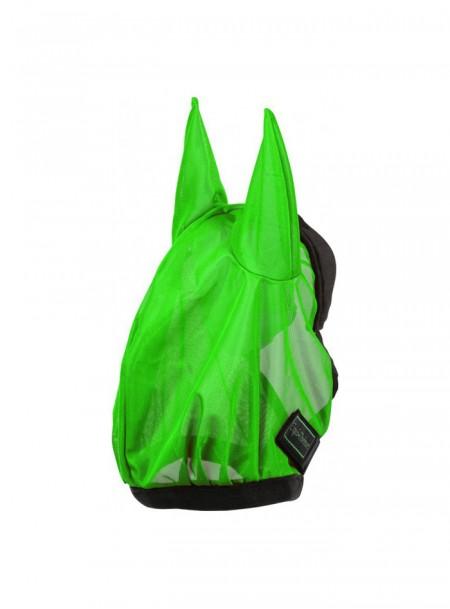 Яскрава захисна сітчаста маска від комах EQUITHEME в розмірі L Фото