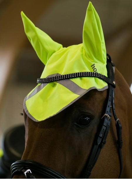 Вушка світловідбиваючі для коня Horze Фото