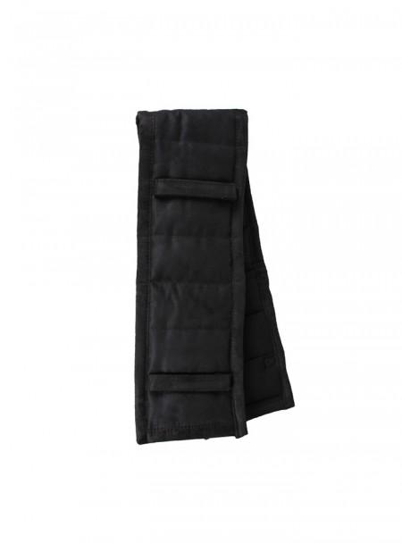 Чорна накладка для підпруги QHP з 100% поліестеру в розмірі Full Фото