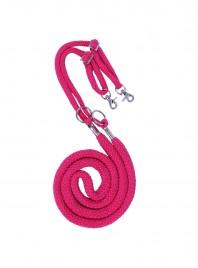 Віжки для коня QHP 335 — 440 см рожевого кольору Фото
