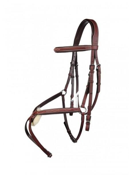 Преміальна вуздечка з капсулем для коня HKM Cob Фото