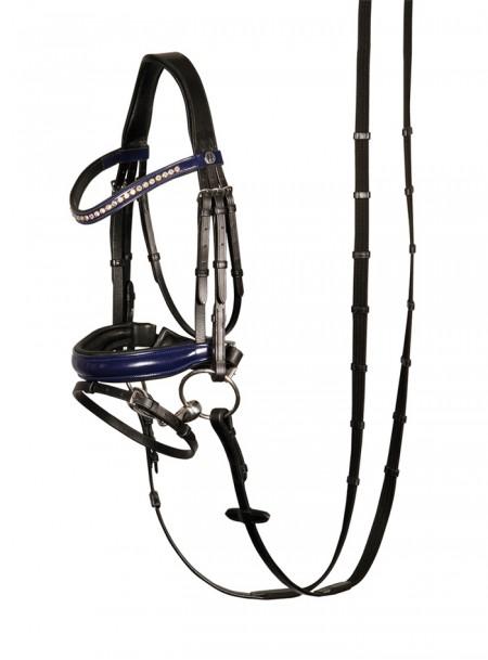 Розкішна вуздечка для коня Harry's Horse з повіддям Фото