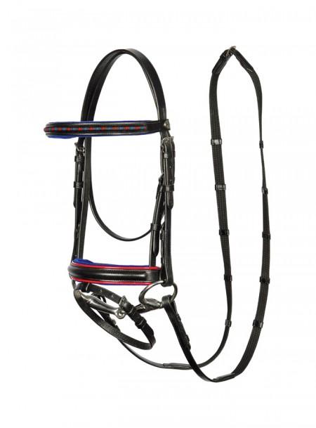 Вуздечка з поводами для коня Harry's Horse та гарним оснащенням Фото