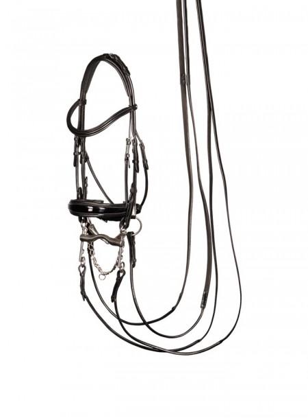 Вуздечка з кермовим ременем для коня Harry's Horse Фото
