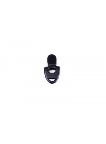 З'єднувальний порт для мундштука Ekkia з 100% гуми в чорному кольорі Фото