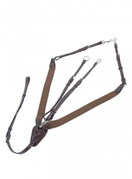 Оригінальний мартингал для коня Harry's Horse з 100% натуральної шкіри та надійними кільцями з нержавіючої сталі Фото