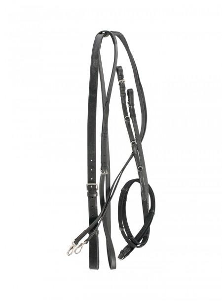 Поводи з мартингалом для керування конем від компанії Harry's Horse Фото