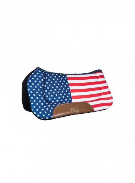 Вальтрап вестерн під сідло для коня НКМ з візерунком американського прапору Фото