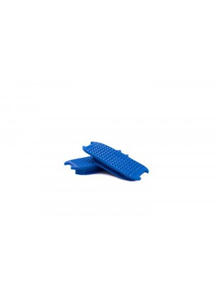 Накладки для стремен FEELING з 100% гуми, синього кольору, 11,5 см Фото