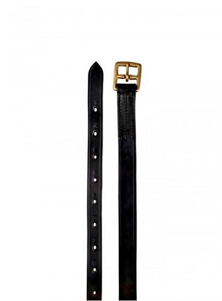 Чорні ремені путлища в комплекті пара від компанії НКМ, довжиною 165см з натуральної шкіри Фото