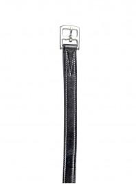 Чорні парні путлища від бренду НКМ довжиною 145см з якісною 100% шкіри Фото
