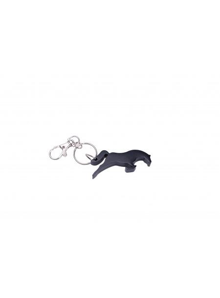 Алюмінієвий брелок-відкривачка у вигляді скакуна Ekkia чорного кольору Фото