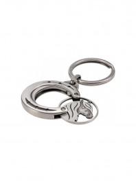 Двосторонній алюмінієвий брелок-монета «Кінь у підкові» Фото
