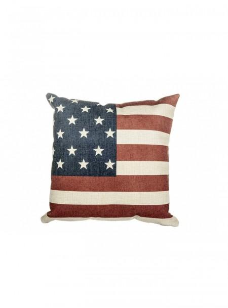 Квадратна декоративна подушка НКМ Stars & Stripes 45*45 см з поліестеру та хлопку Фото