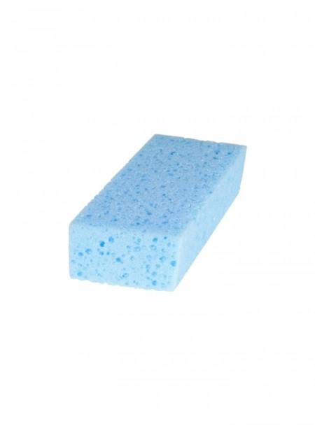 Губка для чищення тварин від компанії Horze в блакитному забарвленні Фото