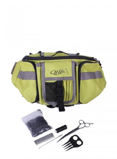 Комплектна сумка з набором для грумінгу та догляду за гривою коня QHP Фото
