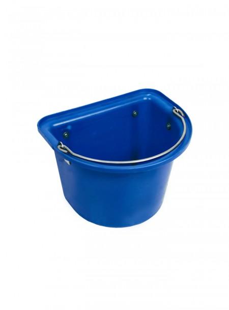 Відро пласке пластикове Horze 15 л синього кольору Фото