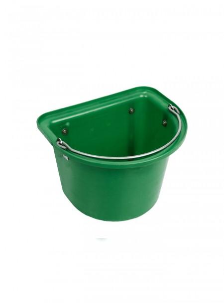 Пласке пластикове відро від компанії Horze на 15 л зел. кольору Фото